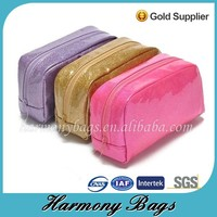 Magnetic and colorfull shiny women cosmetic pouch