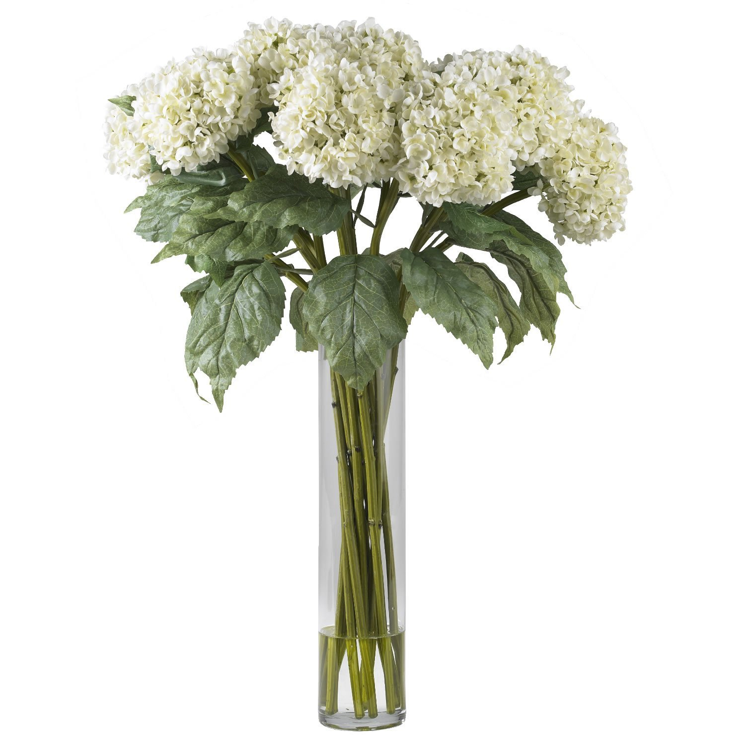 Cheap hydrangea flower colors find hydrangea flower colors deals on get quotations real looking hydrangea silk flower arrangement white colors silk arrangement izmirmasajfo