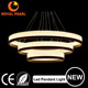 Zhongshan Factory price 24W aluminum suspension modern led lamp 3 rings circle shape led pendant light indoor chandelier