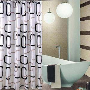 Get Quotations 84 Inches Long Shower Curtain Liner Set With HooksRings For Bathroom Welwo