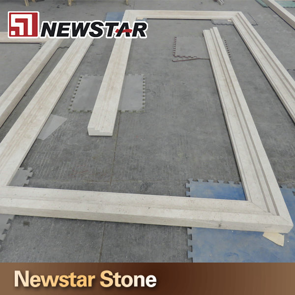 Beige Stone Decorative Door Trim Marble Decorative