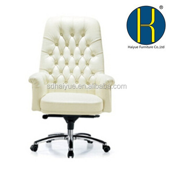 2014 Hot Selling Modern Chair, Luxury White Leather Boss Office Chair  Furniture