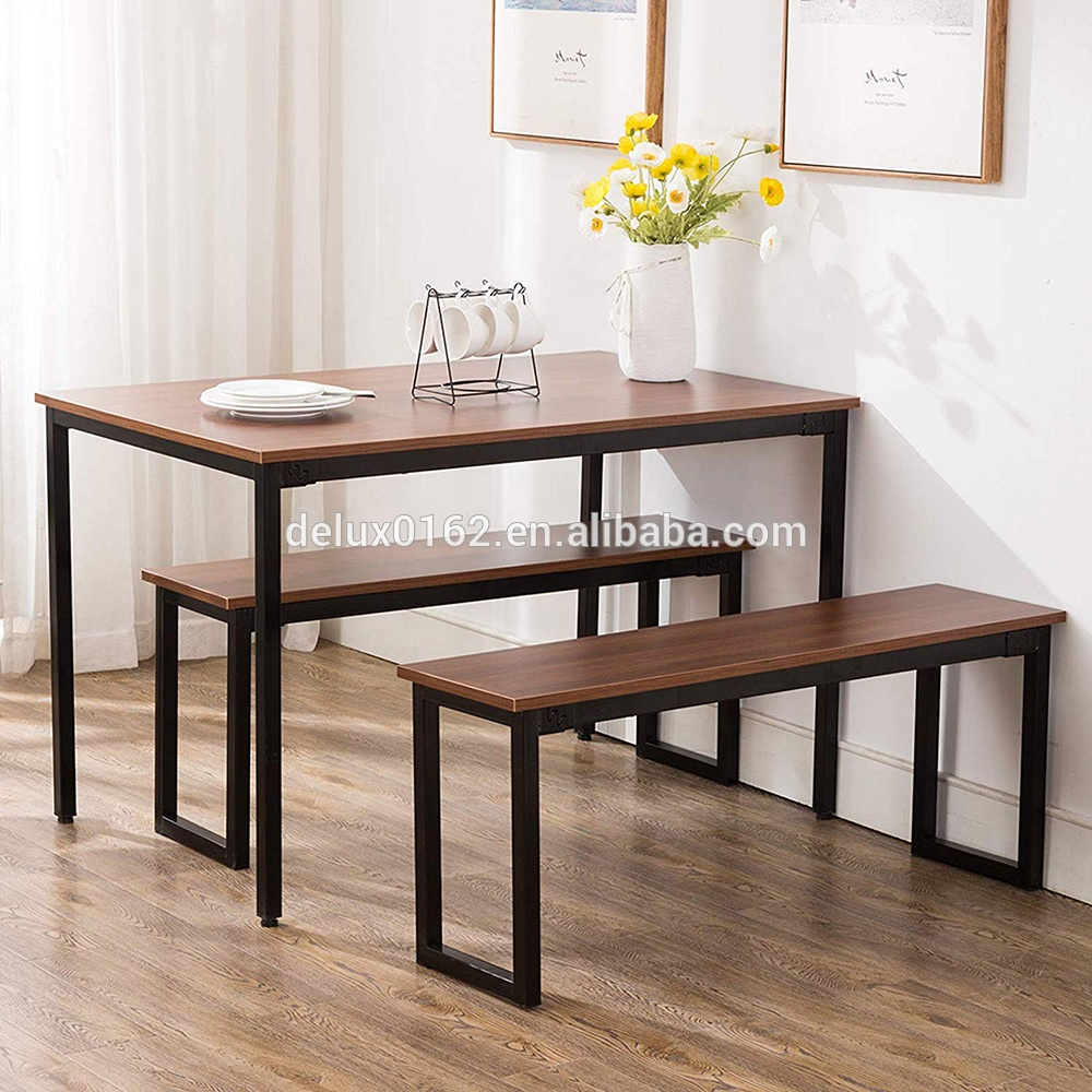 Free Sample Modern Dining Table With Bench Compact Dining Set Use For Small  Kitchen Room - Buy Dining Table With Bench,Modern Dining Table,Dining ...