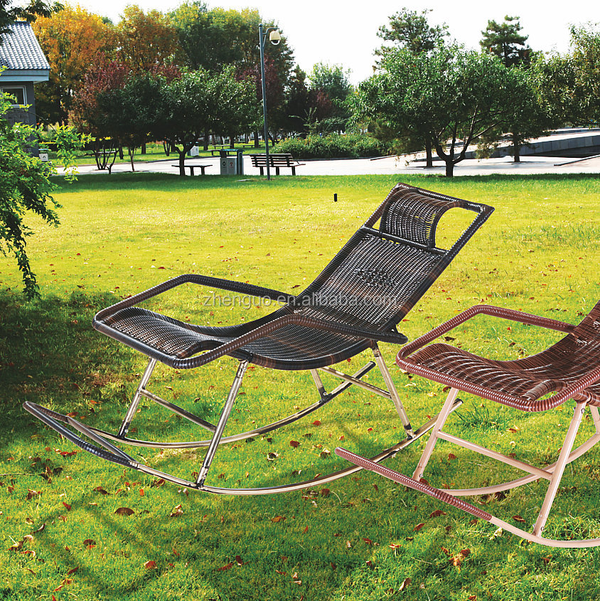 Jard n barato mecedora de mimbre al aire libre para for Mobiliario jardin barato