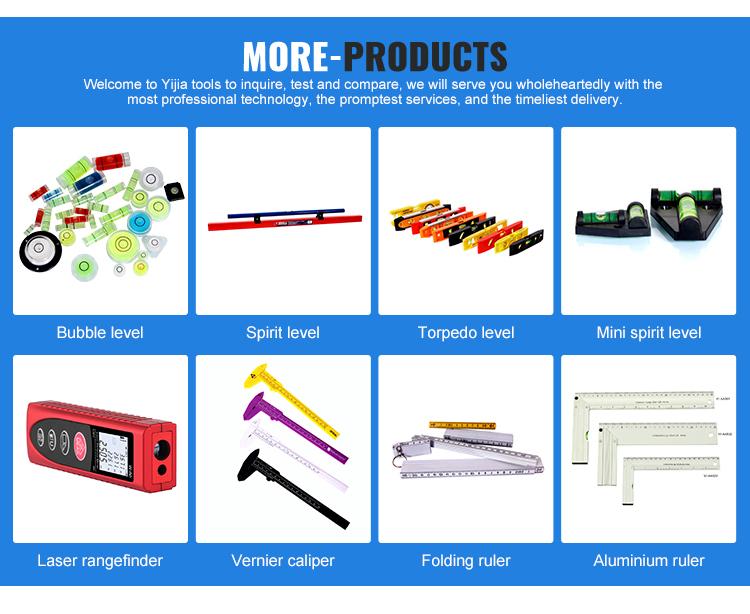 YJ-AL82D Different sizes I-Beam foot level ruler aluminum ruler