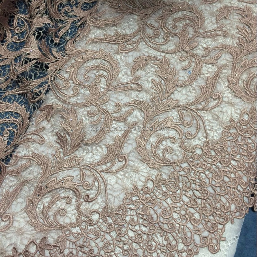 Heavy lace fabric dubai beaded embroidery designs flower