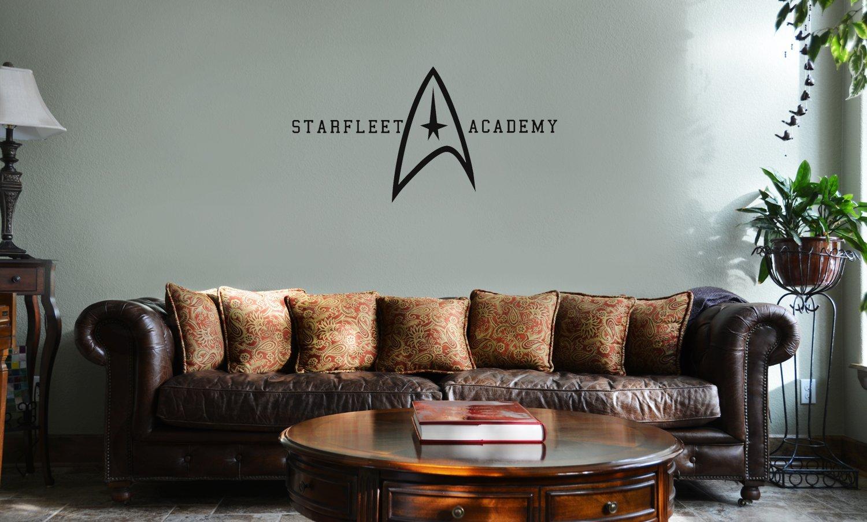 DECAL SERPENT Starfleet Academy Star Trek Inspired Vinyl Wall Mural Decal Home Decor Sticker (BLACK)