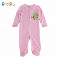 Organic Cotton fastener Baby Sleep Pajama Coverall Autumn Long Sleeve jumpsuit o-neck romper