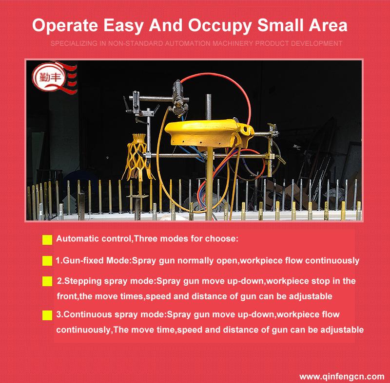 Automático srpay pintura en polvo máquina de recubrimiento línea colgantes/Sistema/arma espaà a/dring