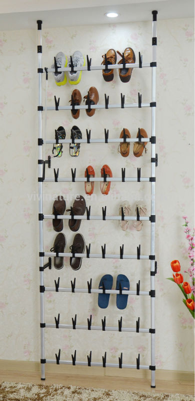 Wall Mounted Wire Shoe Rack For 30 Pair,Rolling Shoes ...