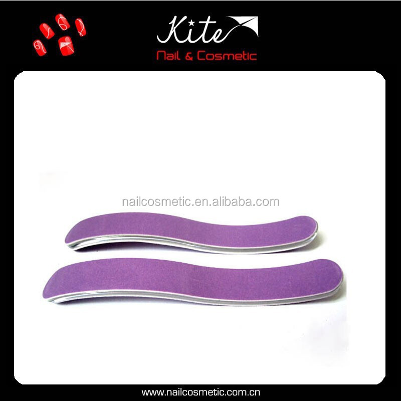 Novelty nail care tools straight double sides nail file