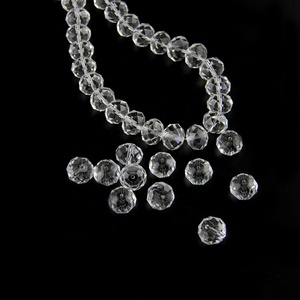 New clear strand 14mm,16mm,18mm faceted glass bead rondelle beads for diy bracelet Jewelry accessories making