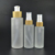 50ml 100ml 120ml 150ml airless glass cosmetic bottle with bamboo lid