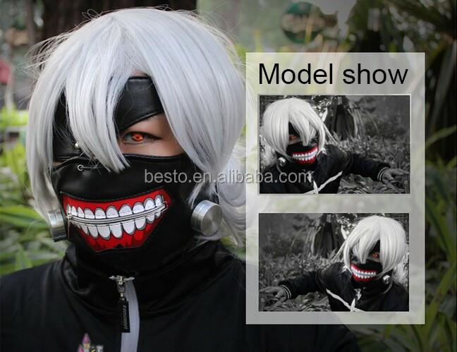 Anime Cosplay Tokyo Ghoul Mask Pu Leather Adjustable Zipper Masks
