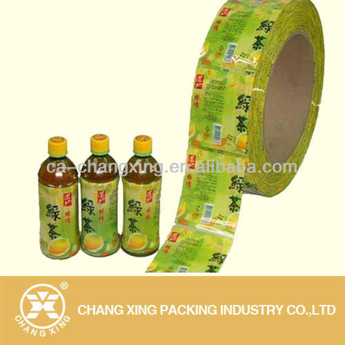 heat sealed bottle shrink wrap sleeve for tea bottles(21 year manufacturer)