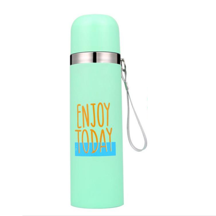 350ml 500ml colored portable custom empty water bottle joy for children