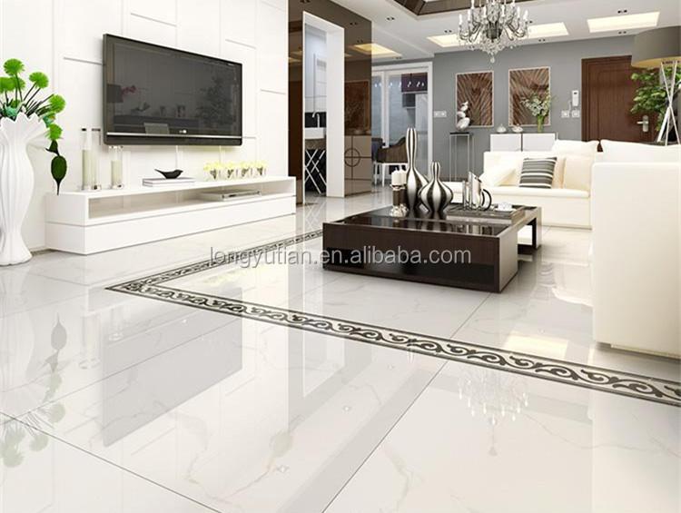 House Building High Gloss Super White Nano Polished Porcelain Tiles