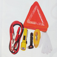 6 pieces car accessories of road assistance emergency tools kit auto repair safety kits