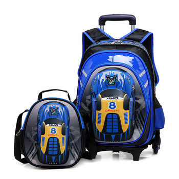 0107e3853dd1 2018 China new design cartoon wheeled kids trolley school bag high quality Children  backpack