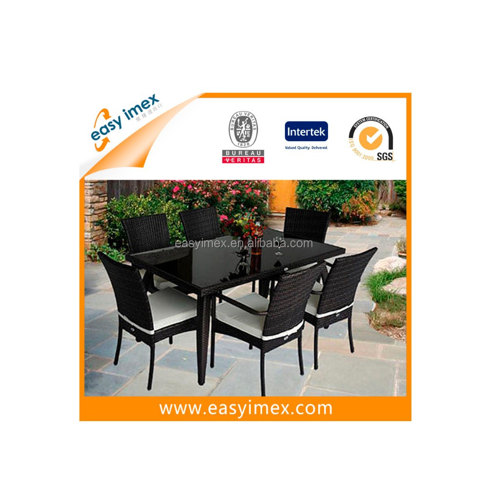 All weather outdoor garden 6 chairs rectangle table dining for All weather garden chairs
