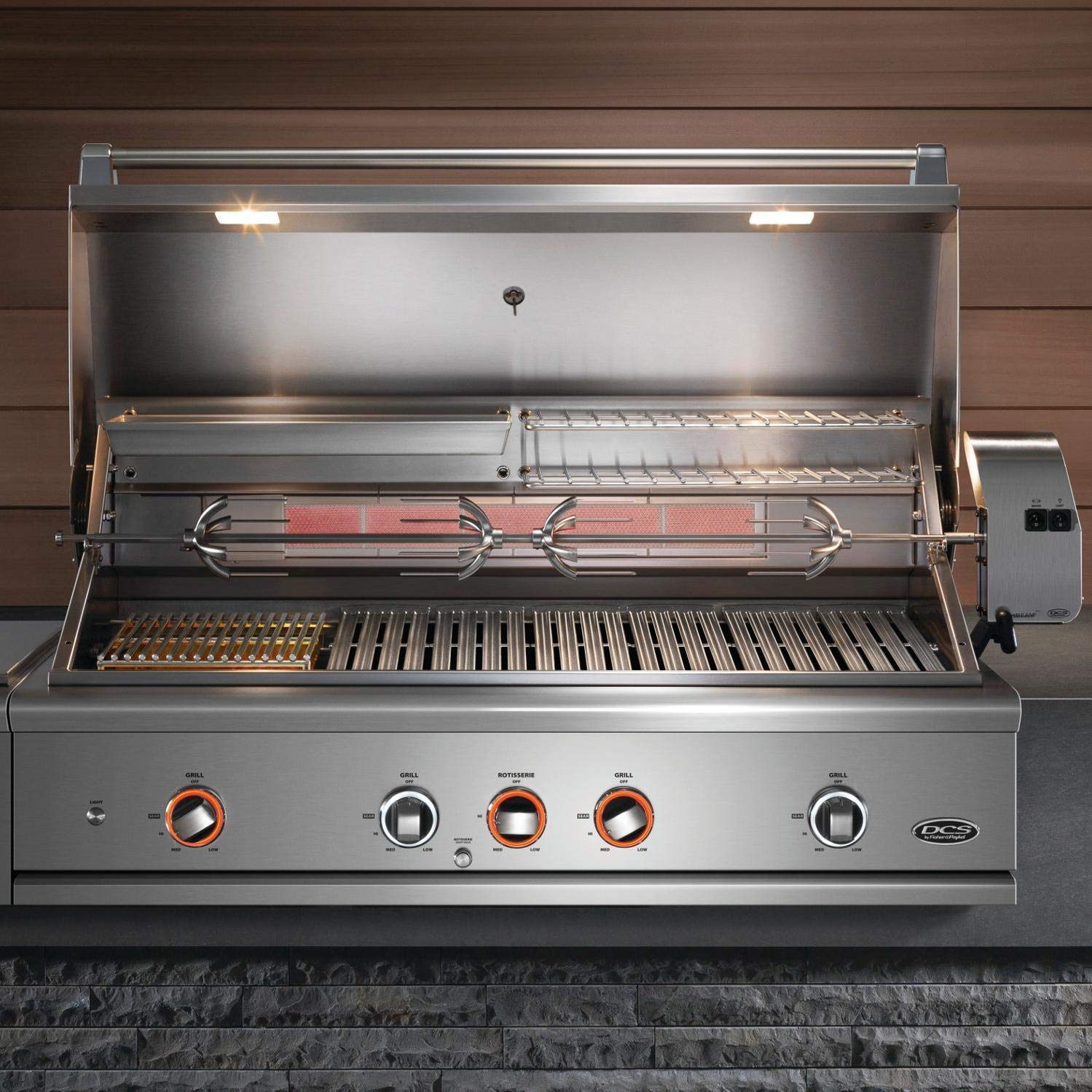 DCS Evolution Built-In Gas Grill with Rotisserie (BE1-48RC-L), 48-Inch, Propane