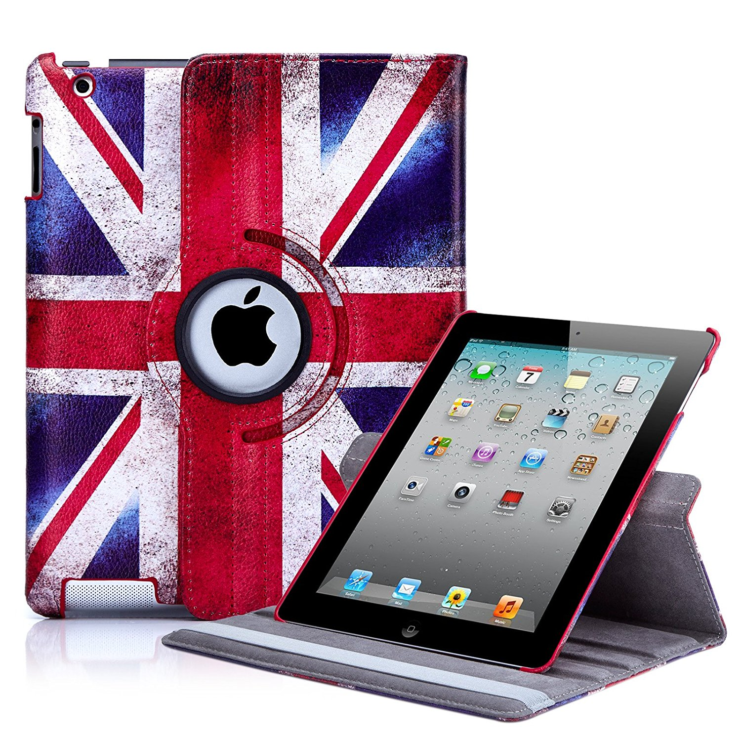 Get Quotations 32nd Designer Book Wallet 360 Degree Revolving Case Cover For Le Ipad 2 3 4