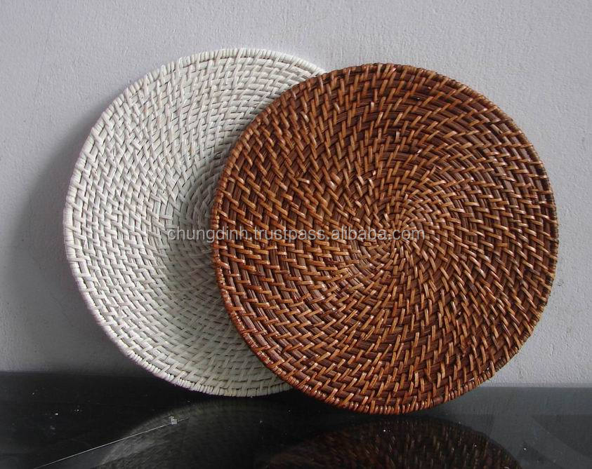 Round Bamboo Rattan Placemat