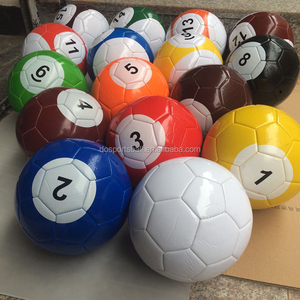 MOQ 1 set popular game Billiard Soccer Ball Size 5,4,, 3, Poolballs(Snookball)