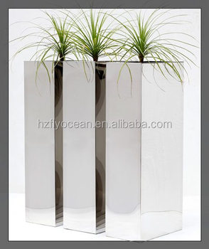 Fo 9022 Stainless Steel Plant Pots Decorative Pot Buy Large Flower