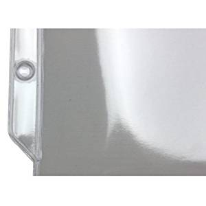 "12-1/4"" x 17-1/8"" 3-Hole Punched Heavy Duty Sheet Protectors"