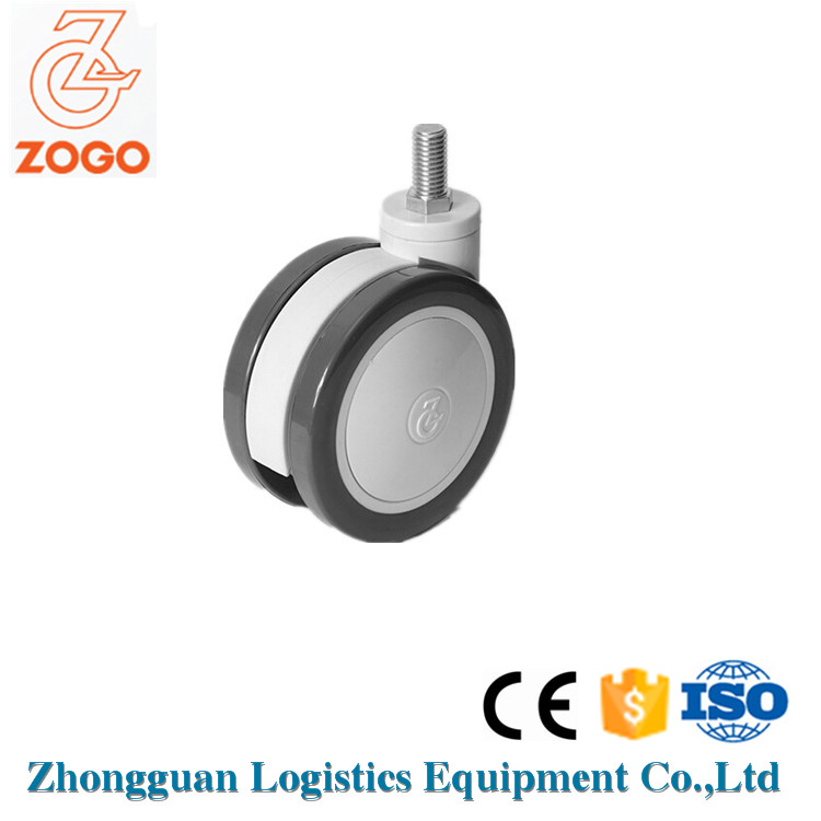 China Factory Secure Caster 100Mm Double Wheel Medical Equipment