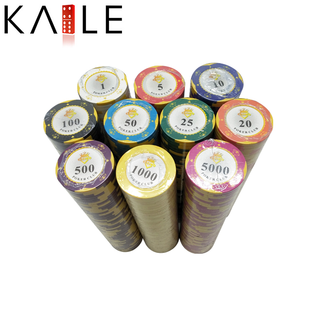Clay Poker Chips 500 Delige Set met Aluminium Doos