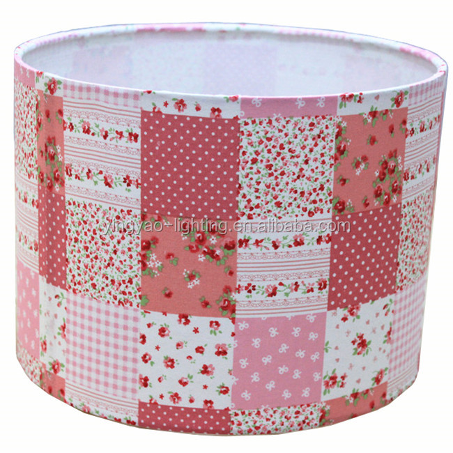 Pink Round Fabric Lampshade For Table Lamp And Ceiling Lamps