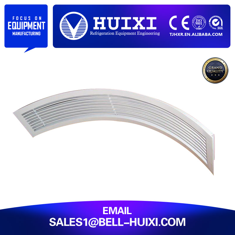 Curved Air Vent / Air Conditioning Linear Grilles Diffusers