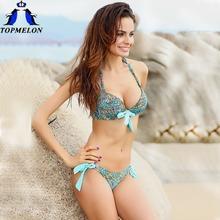 push up bikini roupa de praia  Swimwear Women Padded Boho Fringe Bandeau Bikini Set New Swimsuit Lady Bathing suit