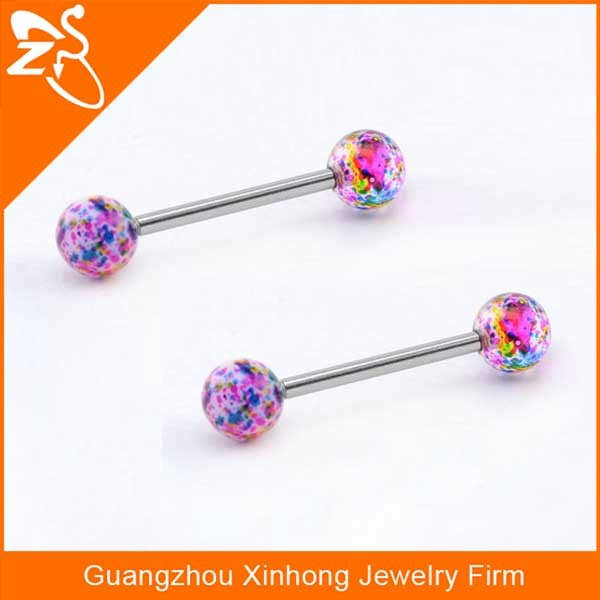 Plastic tongue rings jewelry acrylic balls penis piercing for Plastic cheek piercing jewelry