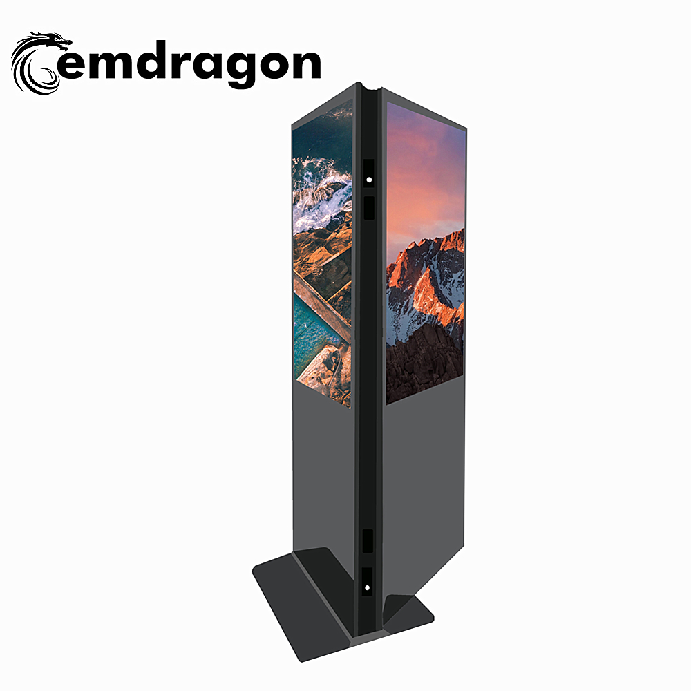 Persona in piedi Due Lato del Display digital signage totem 32 pollice Dual Screen Chiosco Per Indoorfloor standing kiosk pubblicità display a led