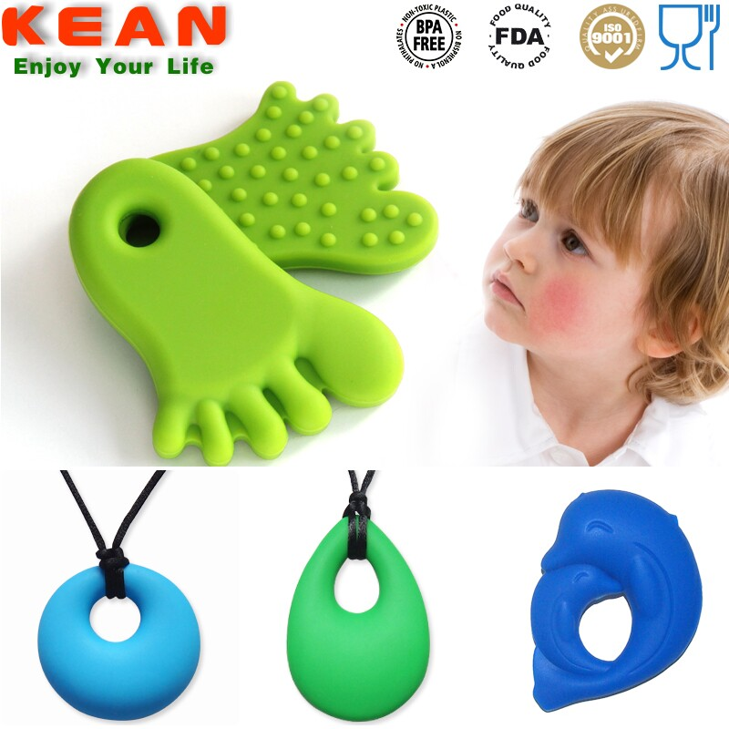 Promotional handmade jewelry teething wholesale silicone necklace nurse heart pendant
