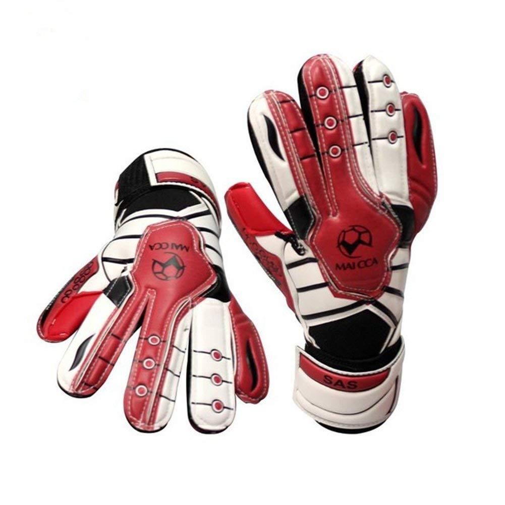 8fe894233 Kids Football Gloves Boys Football Goalkeeper Gloves Soccer Goal Keeper  Goalie Training Gloves Thicken Latex