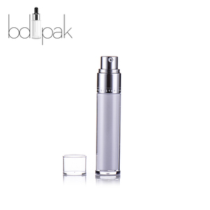 BDPAK fancy lotion Round air pump dip tube acrylic jar bottle