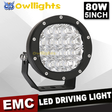 High Power Off Road Auto 80w LED Driving Light Universal 7200lm 5inch Mini LED Car Light, Sopt Beam, Waterpoof