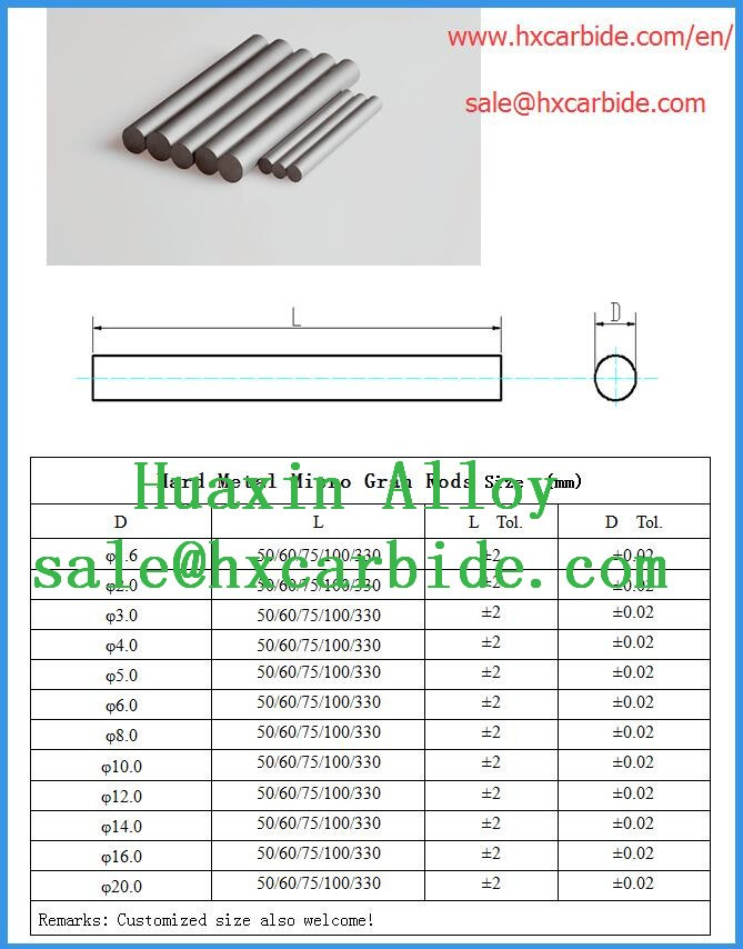 Oem High Precision Tungsten Carbide Insert Blank Rods For Drilling ...
