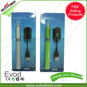hospital equipment Ocitytimes evod vape cartridge/ free shipping electronic cigarette/ newest starter kit 1100mah e cig battery