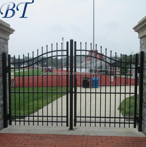 New design decorative wrought iron gate / steel swing gates.