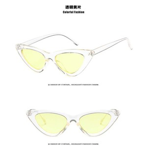 2018 new arrival popular simple design metal cat eye sunglasses