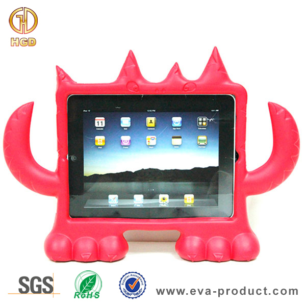 Unbreakable kid safe EVA Monster Free standing case for apple ipad