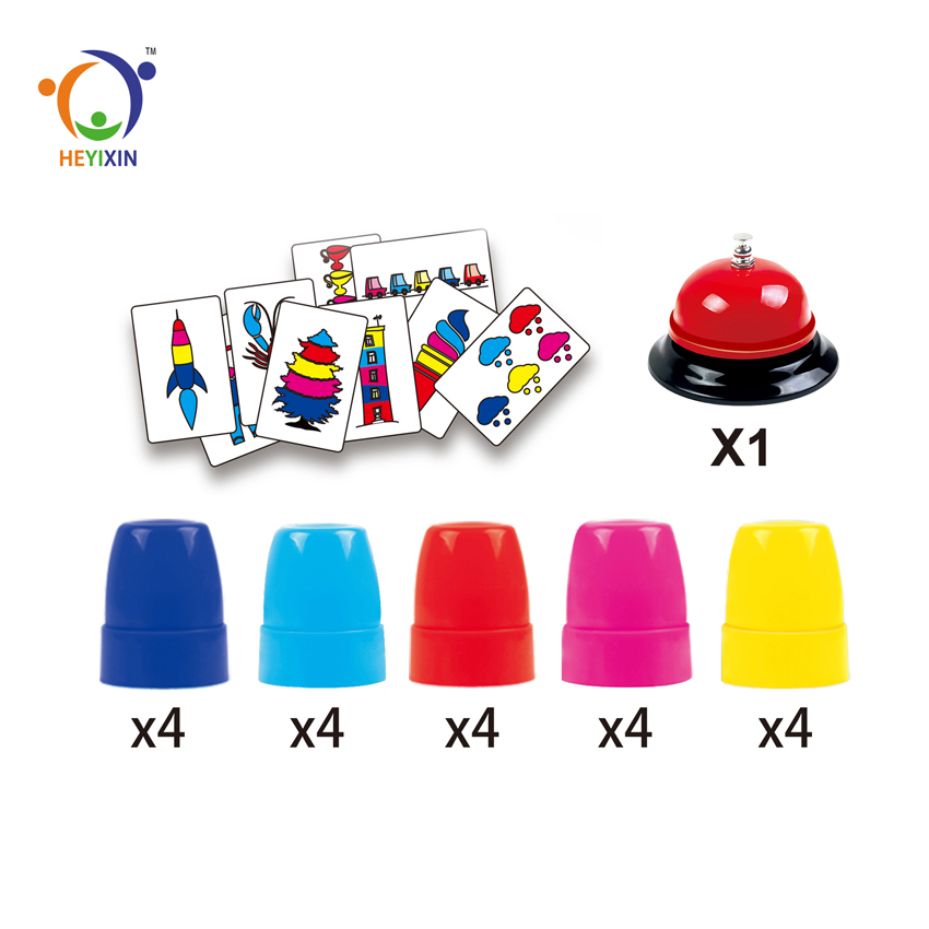 Educational Intelligence have game cards plastic kids speed stacks cup with bell