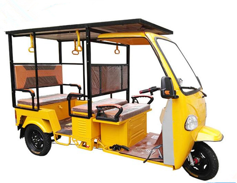 Chinese Factory Customized Rickshaw Battery Three Wheel Bike Solar Electric Tricycle For Passenger