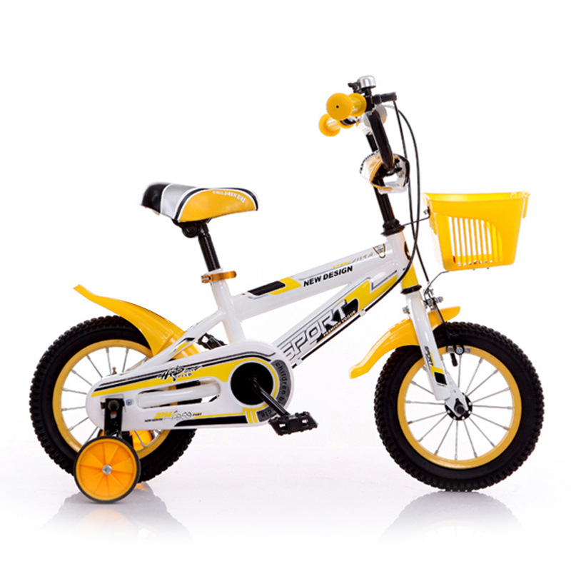 indoor and outdoor use children bicycle yellow colorful rainbow kids bike for sale