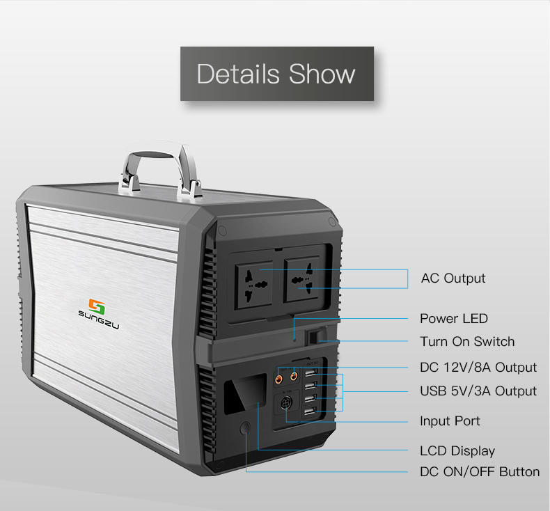 ISO Manufacturer Lithium Battery Portable AC Power Bank 1kw